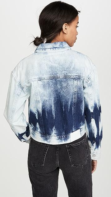 ei8htdreams Crop Tie Dye Denim Jacket