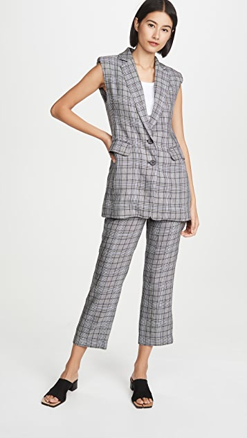 ei8htdreams Straight Crop Plaid Trousers