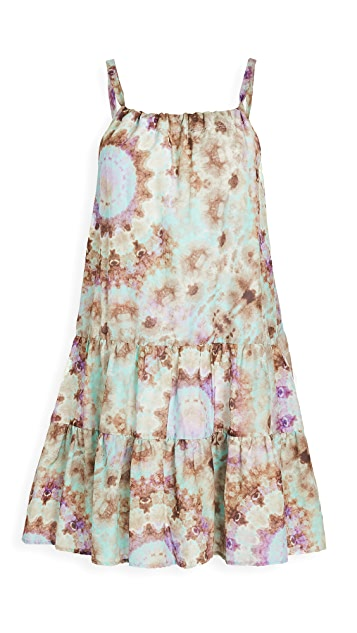 ei8htdreams Tie Dye Venice Gathered Mini Dress