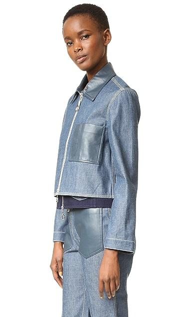 EDUN Denim Cropped Jacket