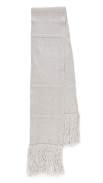 EDUN Plush Wool Chunk Scarf