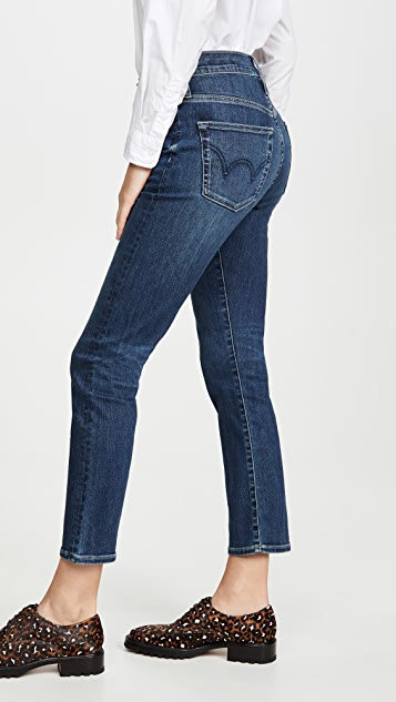 Edwin Elin High Rise Straight Crop Jeans