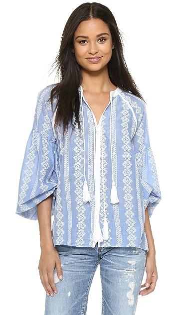 ENGLISH FACTORY Блуза в богемном стиле