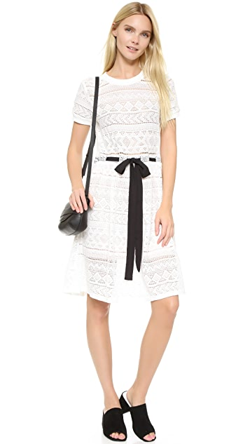 ENGLISH FACTORY Lace Tie Dress