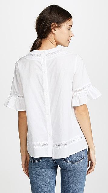 ENGLISH FACTORY 蕾丝波西米亚风女式衬衫