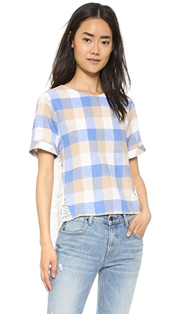 ENGLISH FACTORY Check Blouse