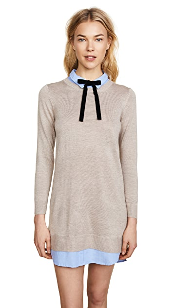 ENGLISH FACTORY Combo Shirtdress