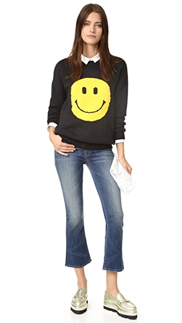 ENGLISH FACTORY Smiley Face Sweater