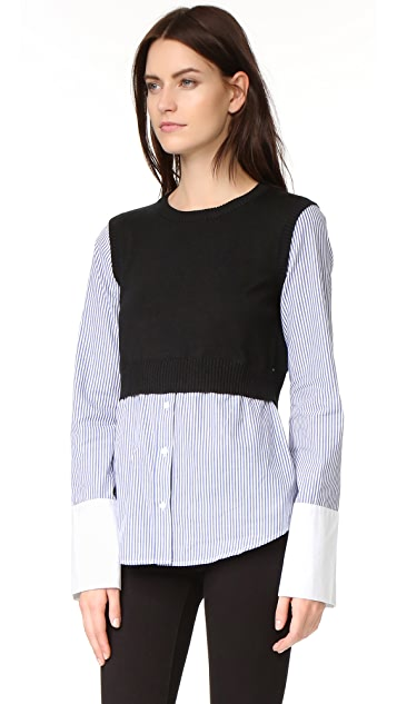 ENGLISH FACTORY Combo Sweater