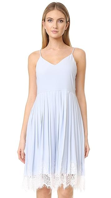 3ea943683938 ENGLISH FACTORY Sleeveless Ruffle Dress With Lace | SHOPBOP