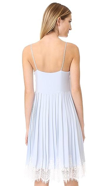 ENGLISH FACTORY Sleeveless Ruffle Dress With Lace