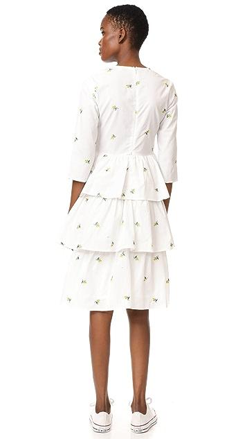 ENGLISH FACTORY Long Ruffle Dress