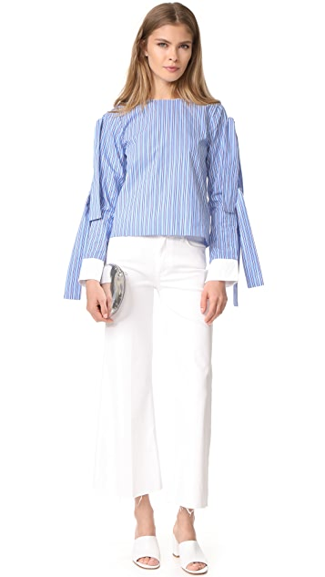 ENGLISH FACTORY Tie Sleeve Blouse