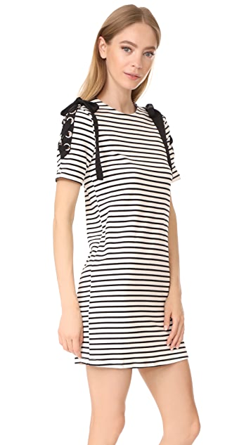 ENGLISH FACTORY Stripe Tie Dress