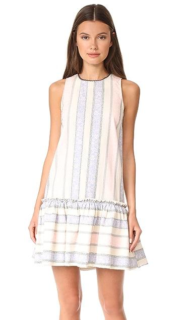 ENGLISH FACTORY Sleeveless Drop Waist Ruffle Dress