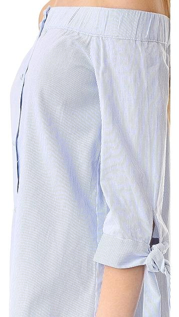 ENGLISH FACTORY Stripe Off Shoulder Dress