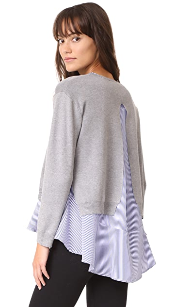 ENGLISH FACTORY Combo Flounce Sweater