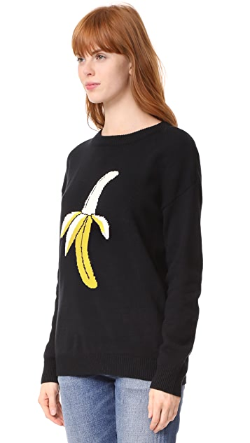 ENGLISH FACTORY Banana Print Sweater