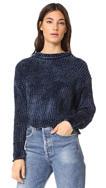 ENGLISH FACTORY Scallop Hem Knit Sweater