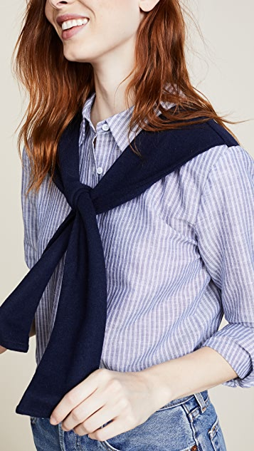ENGLISH FACTORY Stripe Shirt with Knit