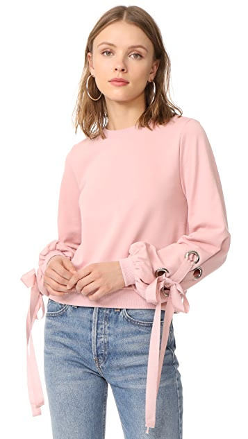 ENGLISH FACTORY Tied Up Sweatshirt