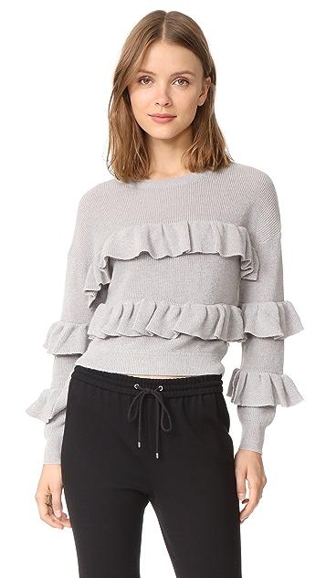 ENGLISH FACTORY Ruffle Sweater