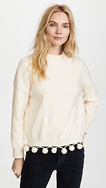 ENGLISH FACTORY Pom Pom Sweater