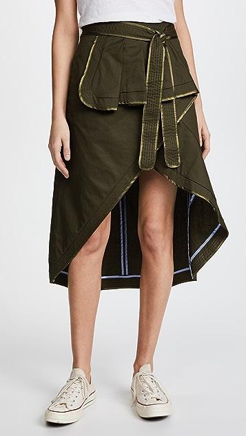 ENGLISH FACTORY Ruffle Skirt with Binding