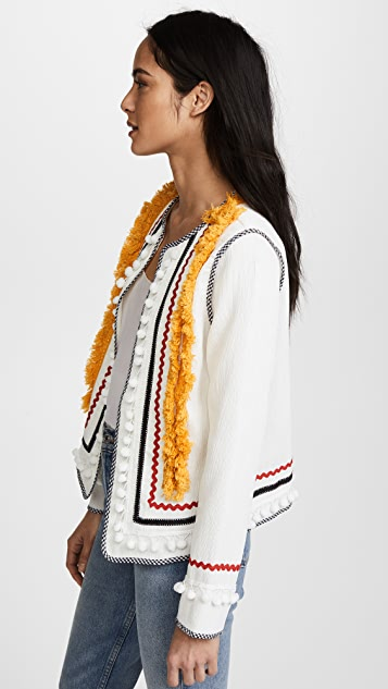 ENGLISH FACTORY Jacket with Fringe Trim