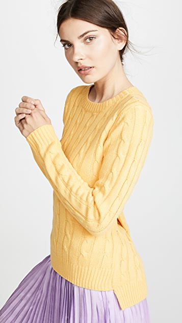 ENGLISH FACTORY Long Sleeve Sweater with Knot