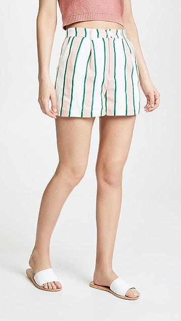 ENGLISH FACTORY Pleated Shorts