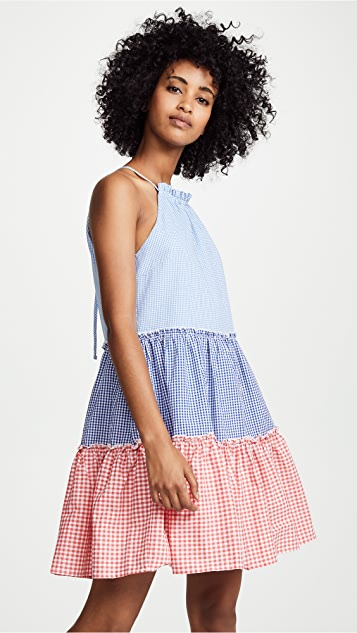 760040a30861 ENGLISH FACTORY Gingham Check Halter Dress | SHOPBOP