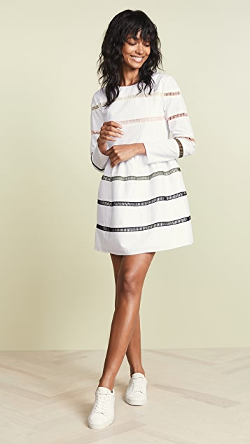 ENGLISH FACTORY A-Line Striped Dress