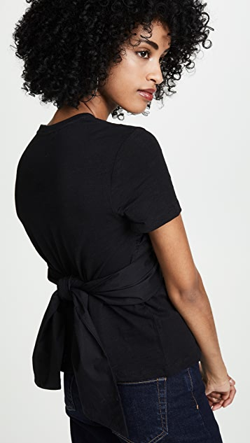 ENGLISH FACTORY Contrast Bandeau Tee