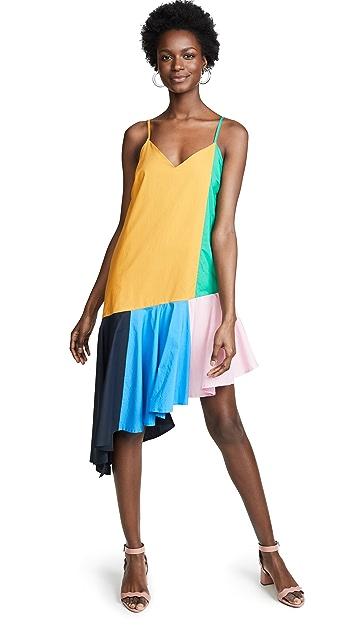 ENGLISH FACTORY Миди-платье с цветными блоками