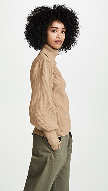 ENGLISH FACTORY Рубчатый свитер с воротником под горло