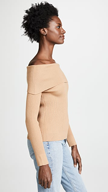 ENGLISH FACTORY Ribbed Sweater
