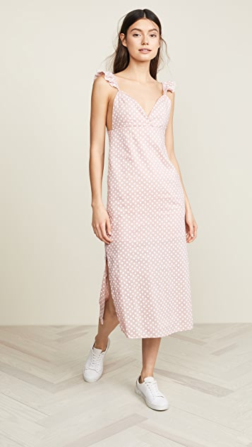 ENGLISH FACTORY Polka Dot Slip Dress