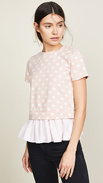 English Factory Polka Top Combo Top