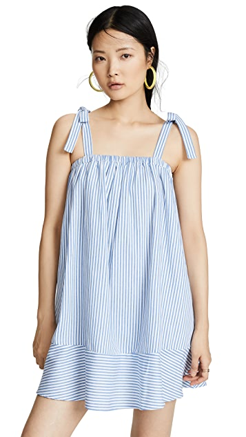 ENGLISH FACTORY Shirred Tied Dress