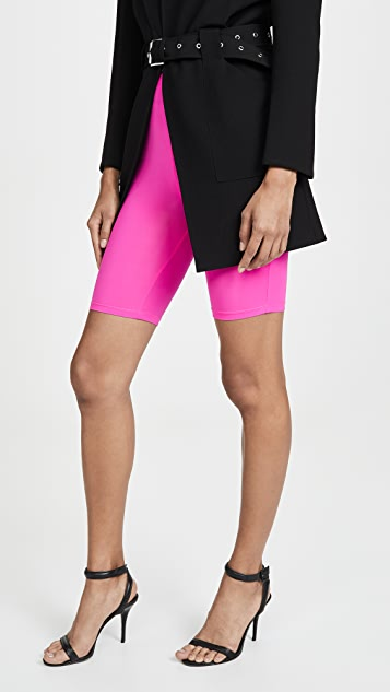 ENGLISH FACTORY Neon Pink Bike Shorts