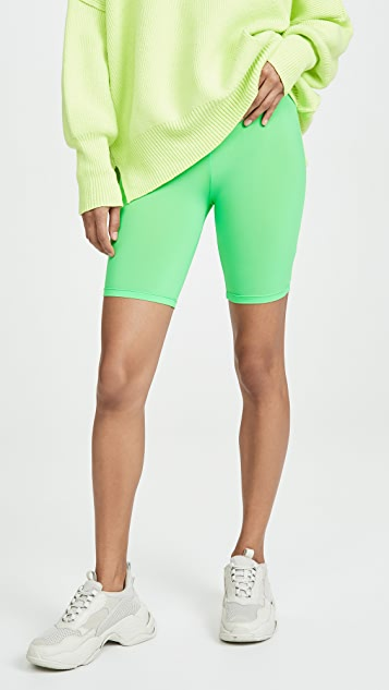 ENGLISH FACTORY Neon Green Bike Shorts