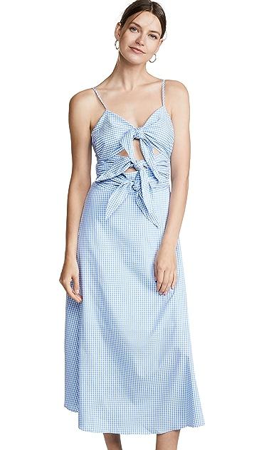 ENGLISH FACTORY Платье без рукавов с завязками