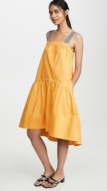 ENGLISH FACTORY Миди-платье Shade