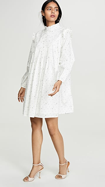 ENGLISH FACTORY Pintuck Ditsy Floral Dress
