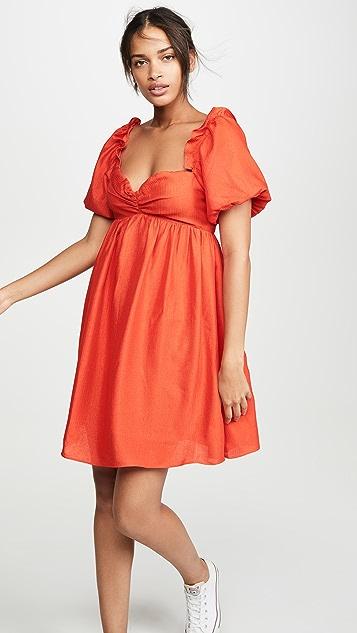 ENGLISH FACTORY Мини-платье с объемными рукавами