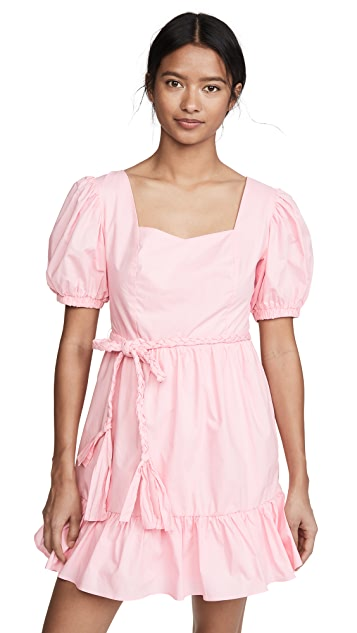 ENGLISH FACTORY Puff Sleeve Mini Dress