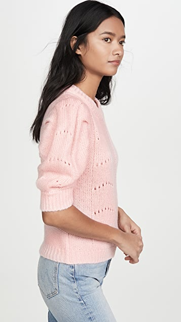 ENGLISH FACTORY Short Puff Sleeve Sweater
