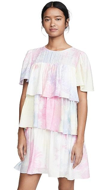 ENGLISH FACTORY Shirring A-Line Short Dress