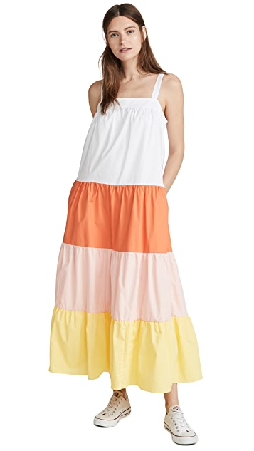 ENGLISH FACTORY Colorblock Sleeveless Dress